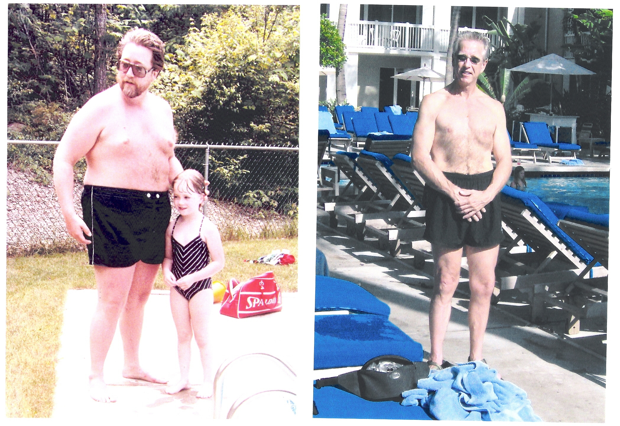 Author Bill Anderson before and after his 140 pound weight loss.