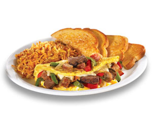 meat lovers omlette